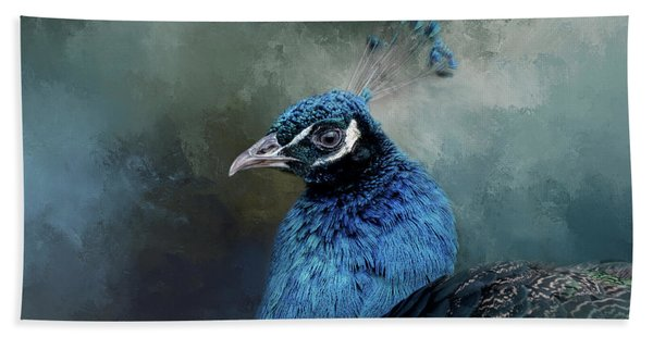 The Peacock's Crown Hand Towel