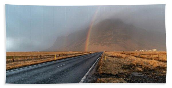 The Rainbow Road Hand Towel