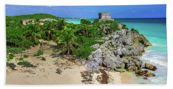 The Temple By The Sea Bath Towel