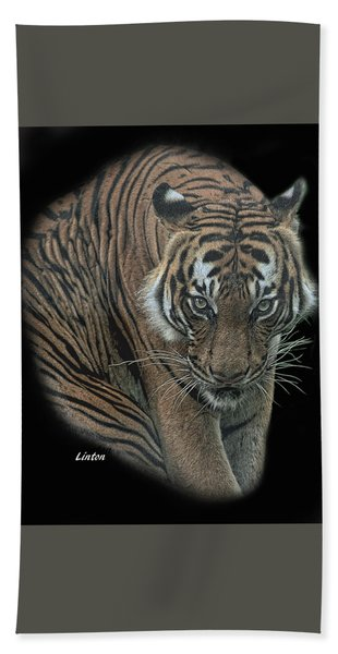 Bath Towel featuring the digital art Tiger 6 by Larry Linton