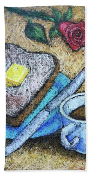 Toast And Roses Hand Towel