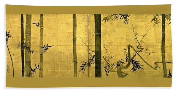 Top Quality Art - Bamboo And Plum Tree Hand Towel