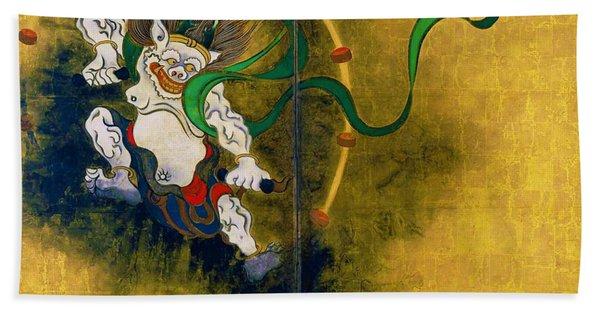 Top Quality Art - Wind God And Thunder God - Thunder God Hand Towel
