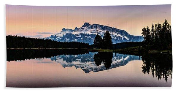 Twilight, Two Jack Lake Hand Towel