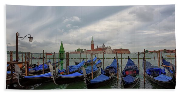Venice Gondola's Grand Canal Bath Towel