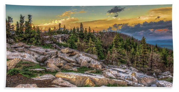 View From Dolly Sods 4714 Bath Towel