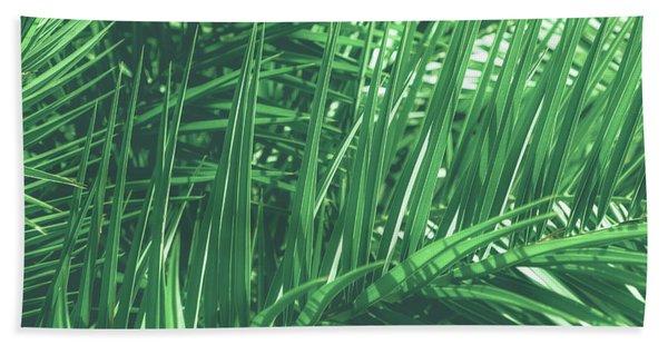 Vintage Palms V Hand Towel