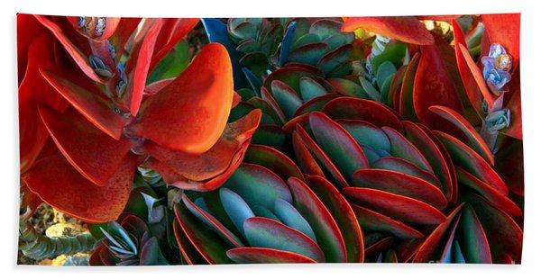 Vivid Paddle-leaf Succulent Bath Towel