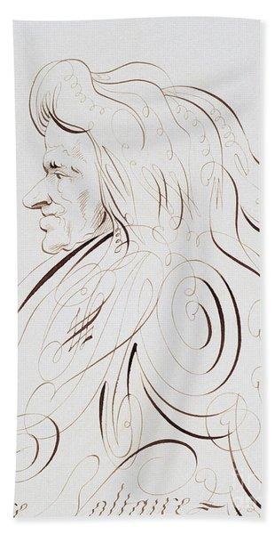 Voltaire By Bernard De Paris  Hand Towel