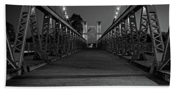Waco Suspension Bridge  Hand Towel