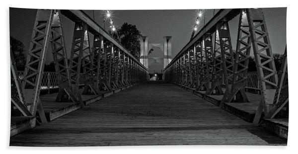 Waco Suspension Bridge  Bath Towel