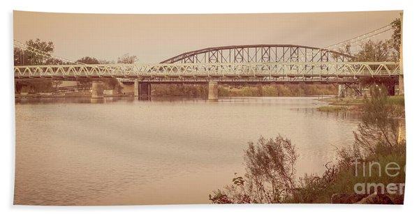 Waco Suspension Bridge Panoramic Hand Towel