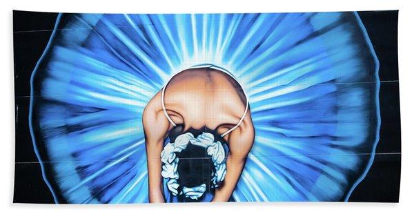 Ballerina Wall Painting, Christchurch, New Zealand Bath Towel