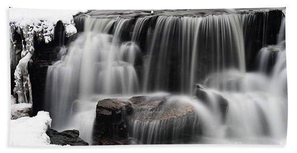 Waterfall And Snow Bath Towel