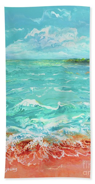 Waves At Sombrero Beach Hand Towel