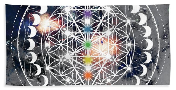 Bath Towel featuring the digital art We Are Beings Of Light by Bee-Bee Deigner