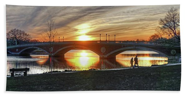 Weeks Bridge At Sunset Hand Towel