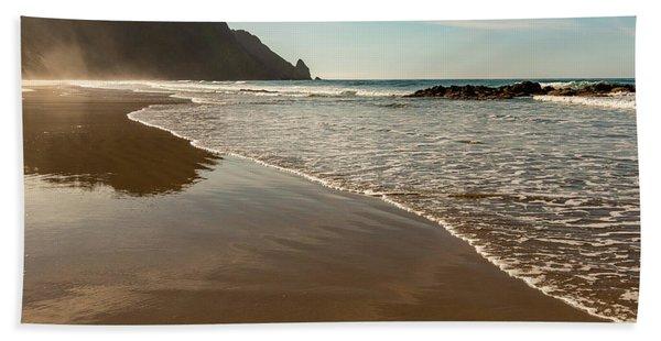 Wet Sandy Beach Bath Towel
