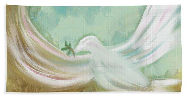 Wings Of Peace Hand Towel