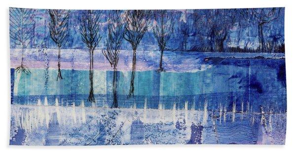 Winter Blues 1 Hand Towel