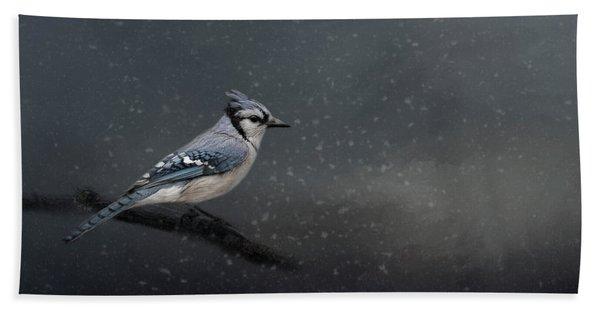 Winter Blues  Bath Towel