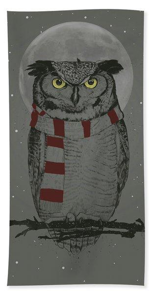 Winter Owl Hand Towel