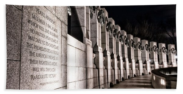 World War II Memorial Hand Towel