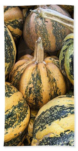 Yellow And Green Pumpkins Hand Towel