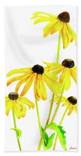 Yellow Black Eyed Susans Bath Towel