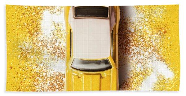 Yellow Street Machine Hand Towel