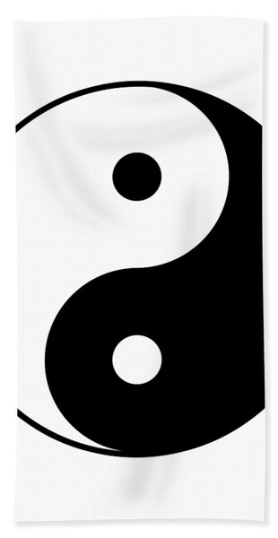Yin And Yang Bath Towel