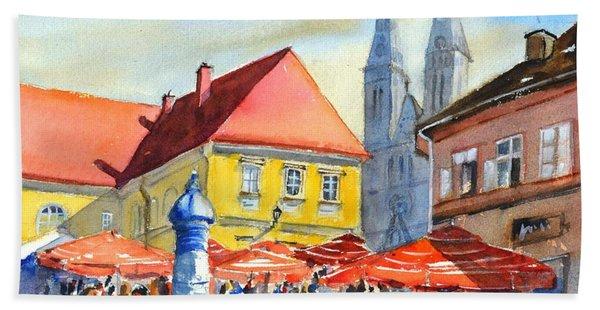 Zagreb Near Dolce Market Hand Towel