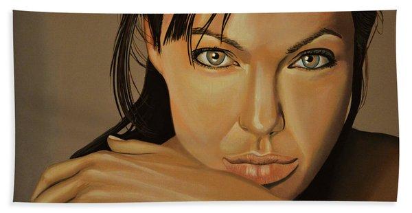 Angelina Jolie 2 Beach Towel