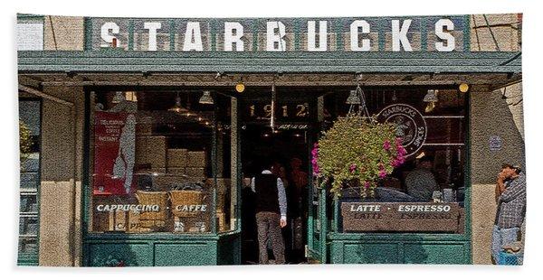 0370 First Starbucks Beach Towel