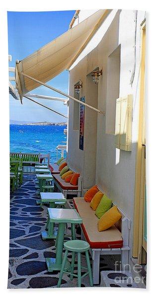 0560 Mykonos Greece Beach Towel