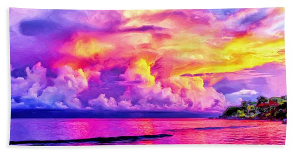 Bali Sunset Beach Towel