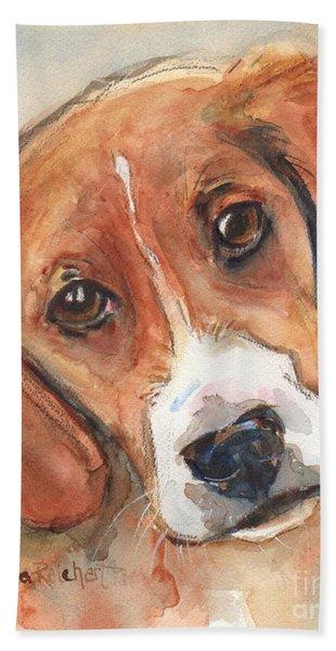 Beagle Dog  Beach Towel