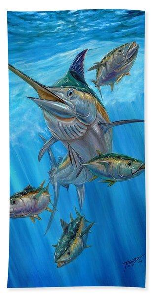 Black Marlin And Albacore Beach Towel