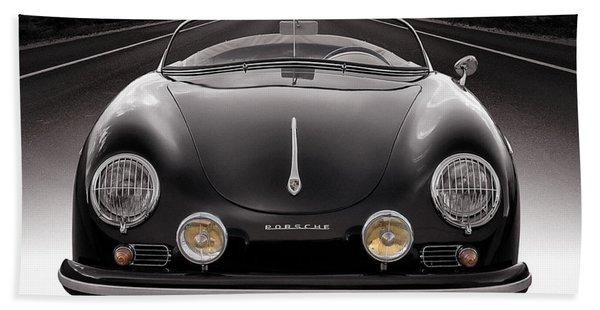 Black Porsche Speedster Beach Towel