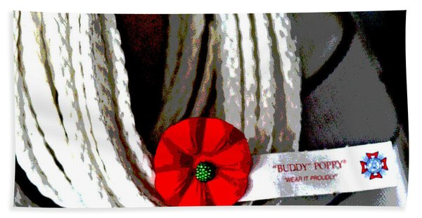 Buddy Poppy Beach Towel