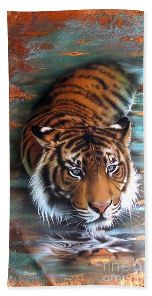 Copper Tiger II Beach Towel
