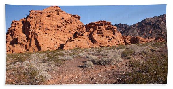Desert Rock Formations Beach Towel