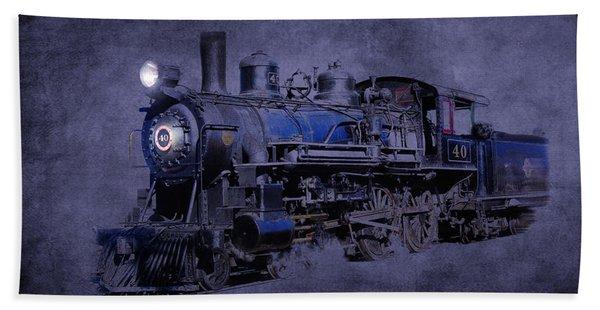 Beach Towel featuring the photograph Ghost Train by Gunter Nezhoda