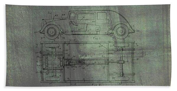 Harleigh Holmes Original Automobile Patent  Beach Towel