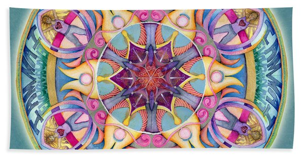 I Am Enough Mandala Beach Towel