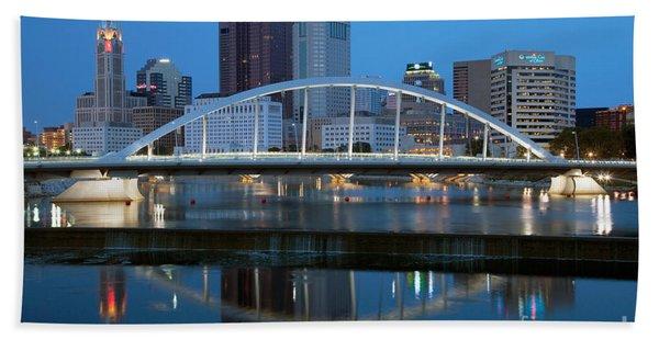 Main Street Bridge Columbus Ohio Beach Towel