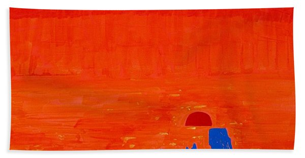 Monument Valley Original Painting Beach Sheet