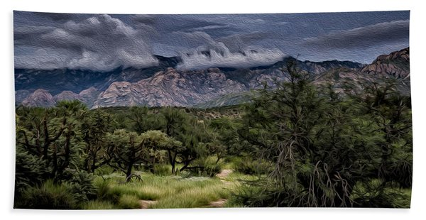 Odyssey Into Clouds Oil Beach Towel