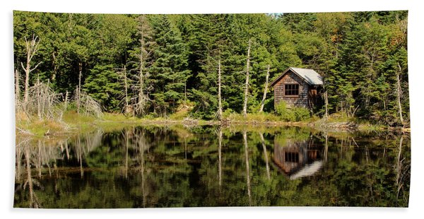 Beach Towel featuring the photograph Pond Along The At by Jemmy Archer