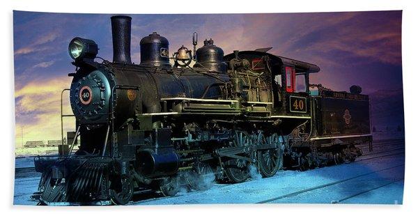 Beach Towel featuring the photograph Steam Engine Nevada Northern by Gunter Nezhoda